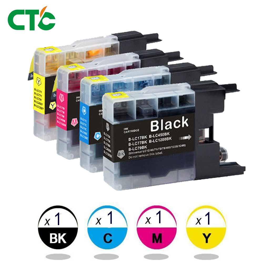 4x Ink Cartridge LC 40 LC 73 LC 77 XL For Brother MFC J825 J6710 J625 J5910 DW