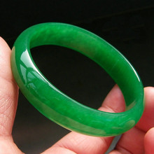 Certificate Fine Jewelry Chinese Natural Beautiful Emerald Green Nephrite Jade Bangle Bracelet gift box