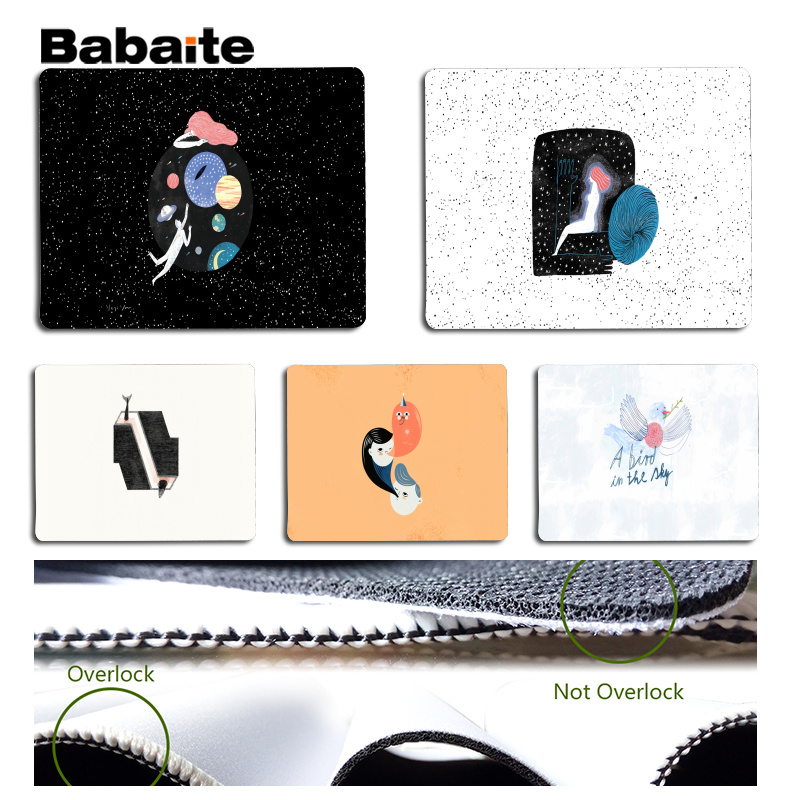Babaite Custom Skin Cute and simple illustrations Large Mouse pad PC Computer mat Size for 18x22cm 25x29cm Rubber Mousemats