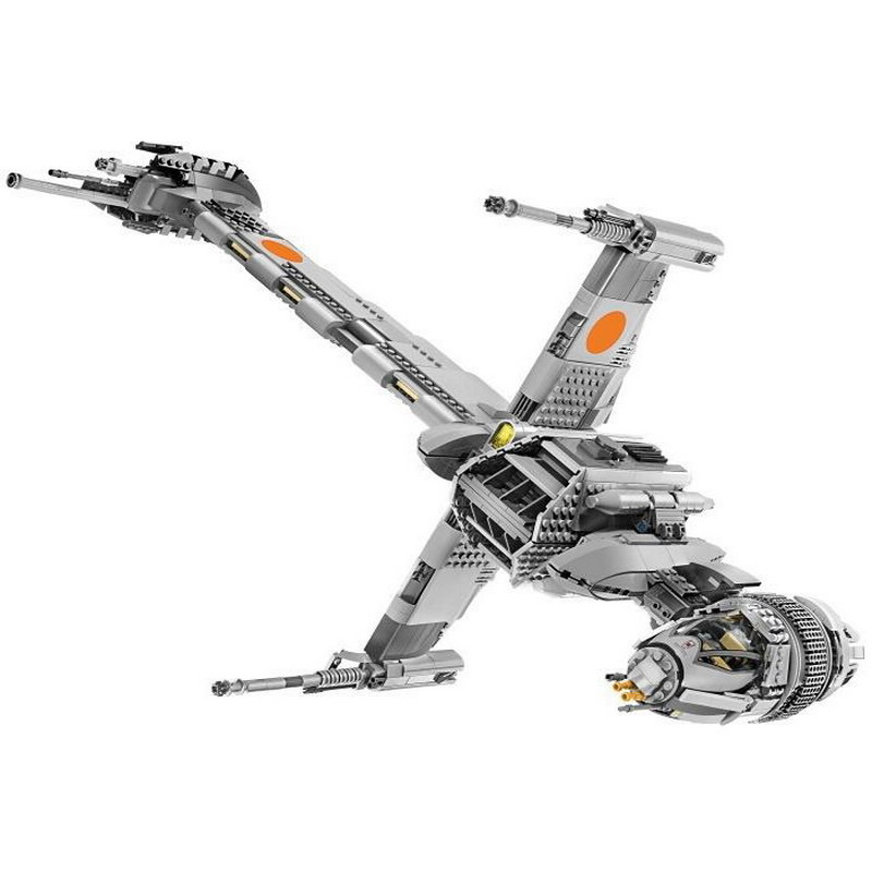 05045 LEPIN STAR WARS B-Wing Starfighter Model Building Blocks Classic Enlighten Figure Toys For Children Compatible Legoe 1402 enlighten star wars 8 in 1 aircraft carrier ship tank model building blocks diy figure toys for children compatible legoe