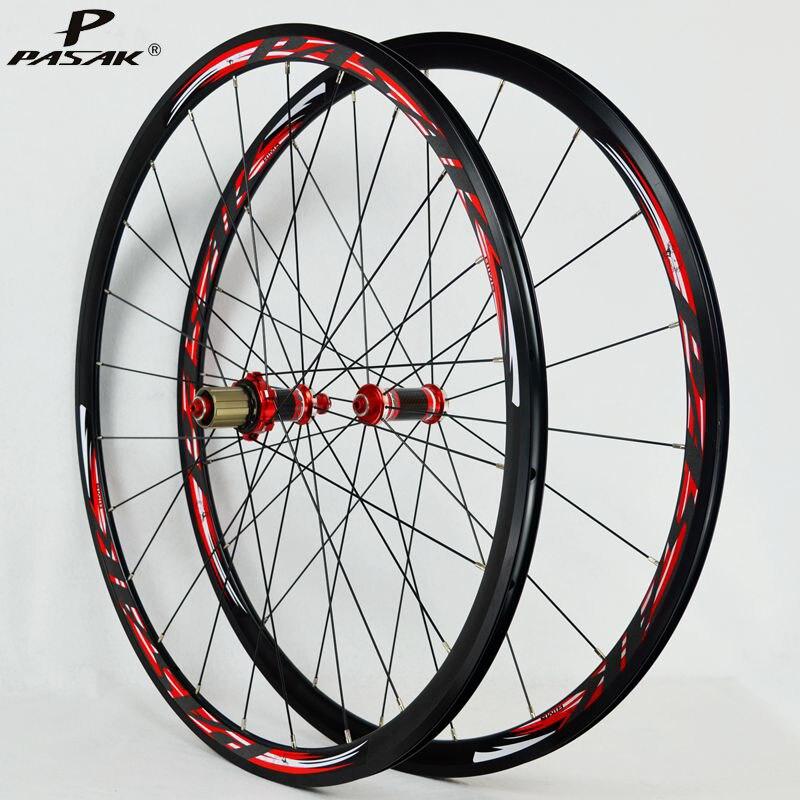 Roues en Fiber de carbone 700C roues de vélo de route roues en carbone léger freins V/C jante en acier inoxydable à traction directe de 30 MM