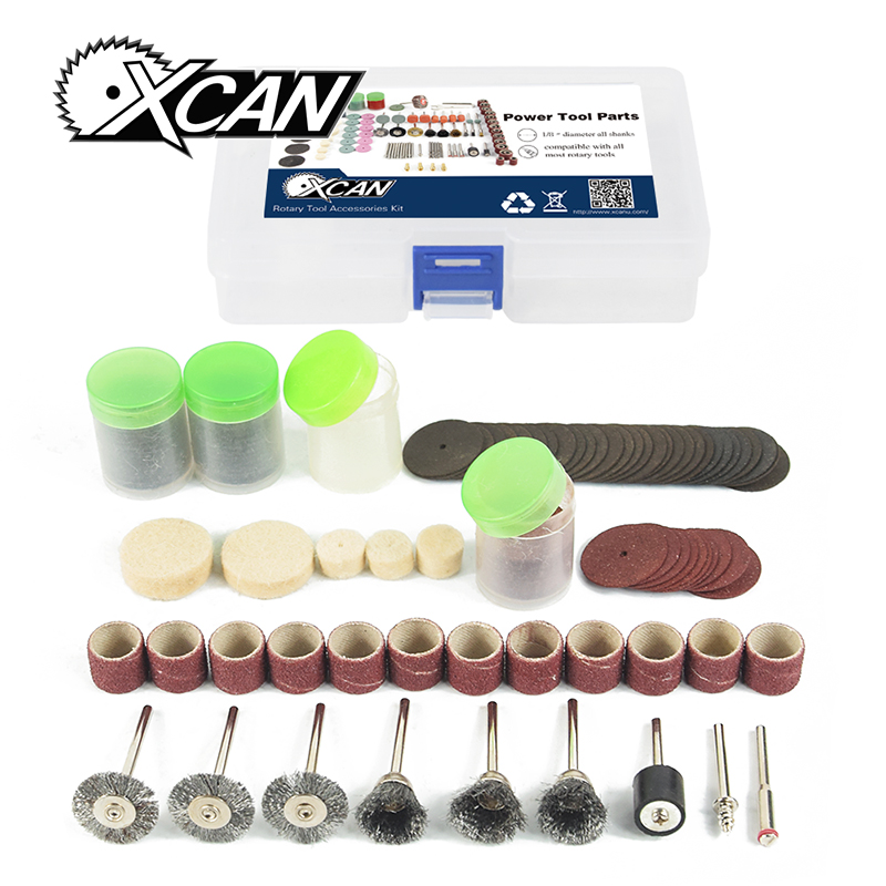 XCAN 146pcs/set  Dremel polishing / sanding set for wood grind  Rotary tools Accessories Kit new 20pc fold felt sanding dremel accessories for rotary tools