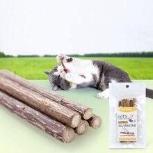 5 шт./лот натуральная кошачья мята кошка молярная палочка для кошек Silvervine чистка зубов лечение кошачьей мяты ментол возбуждаемый Кот