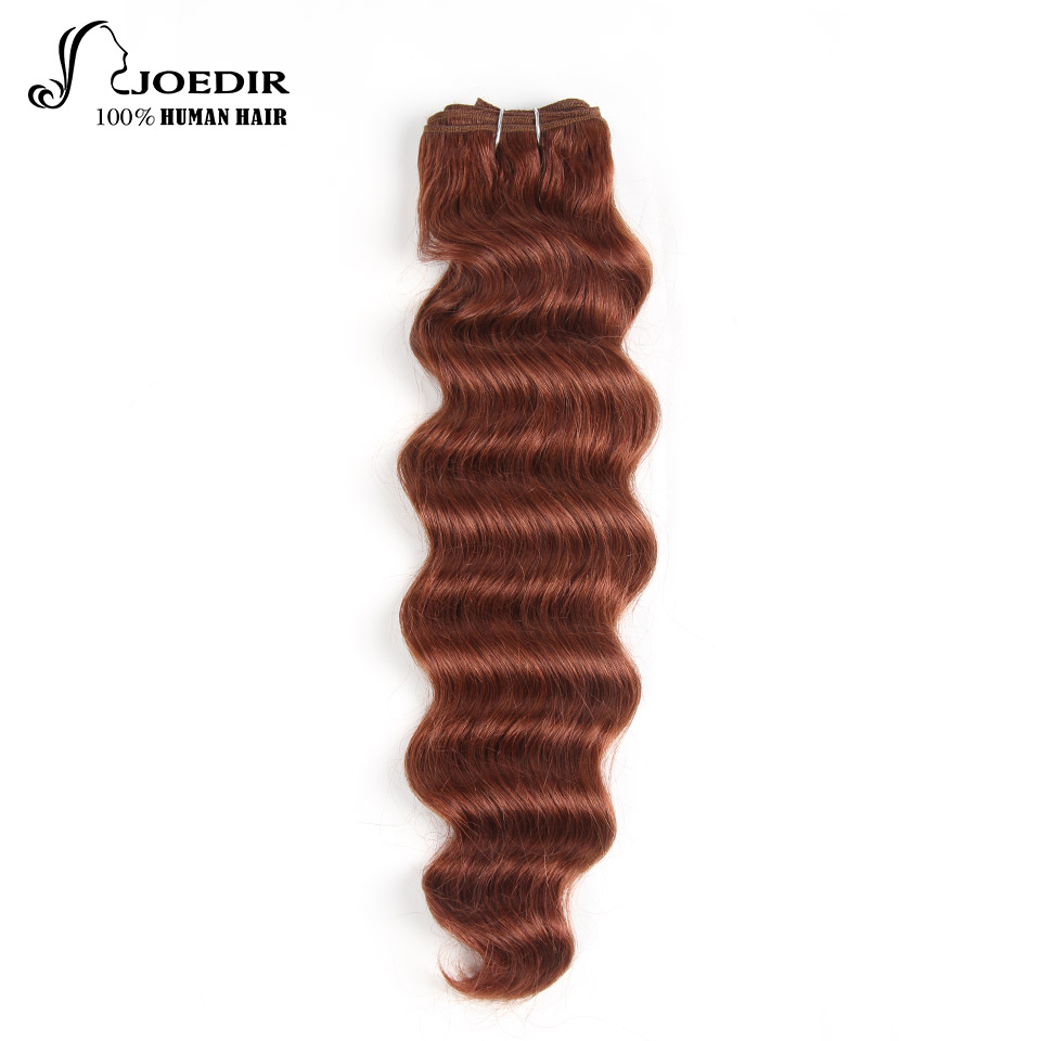 Hair Weaves Human Hair Weaves Joedir Pre-colored Indian Deep Wave Human Hair Bundles 100g Honey Blonde Hair Weave 1 Bundle 27# Hair Extensions Wide Selection;