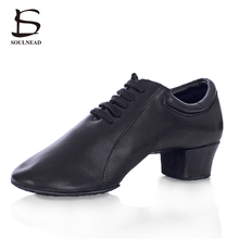 2017 Adult Men Boy Latin Dancing Shoes Comfortable durable Genuine Leather Soft Sole Professional Tango Salsa Indoor Dance Shoes