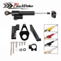 Motorcycle Accessories Adjustable Steering Stabilize Damper Bracket Mount Support Kit For SUZUKI GSXR1300 1998 2015