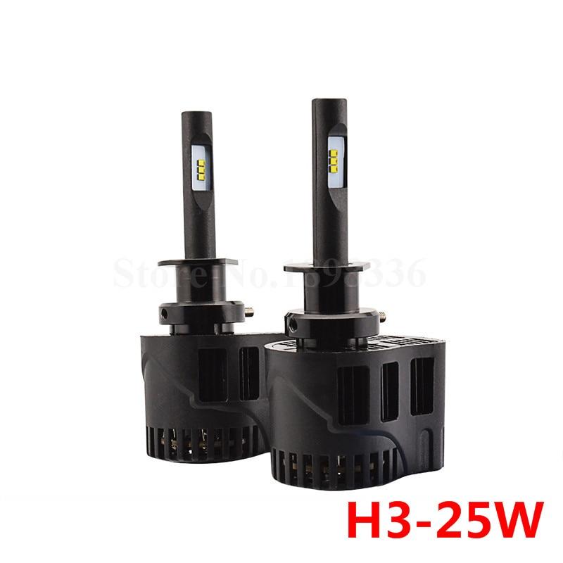 2x P6 H3 50W 6400LM 3000k 4000k 5000k 6000k Car LED ZES Chip Car Styling LED Headlight Waterproof Driving Light Conversion Kit