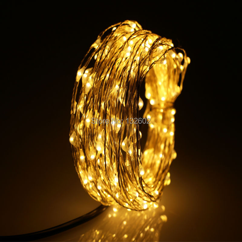 8 Colors 12m 240Leds Outdoor LED String Lights Warm White Silver Wire Christmas Starry Fairy Lights