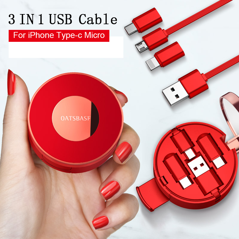 Micro USB to USB Cable for Samsung S7 2A Powder Cake Box Fast Charge Data Cable Mobile Phone Cable for Xiaomi Huawei USB Cord