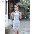 2016 New Chi-pao Chinese Cheongsam Summer Women Cheongsam Lady Chinese Style Female High Neck Bodycon  S-XXL