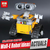 Lepin 16003 687pcs Genuine Idea Robot WALL E Educational Building Set Kits Bricks Blocks Bringuedos Compatitable