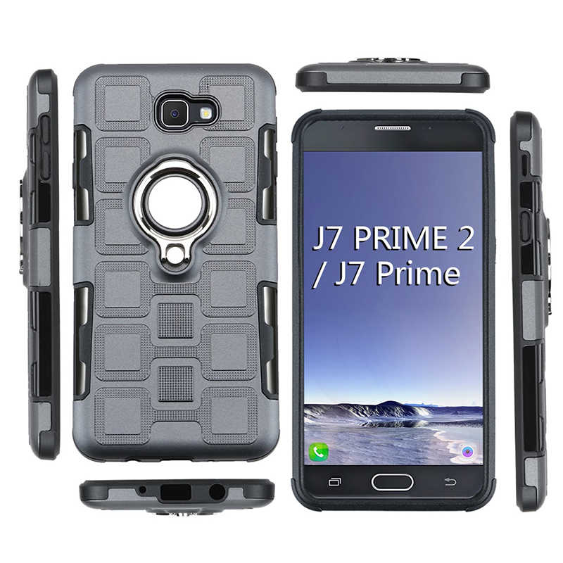 reputable site 5fc63 8ffba Ring Armor Case For Samsung Galaxy J7 Prime 2 Phone Case For Samsung J7  Prime 2 2018 J7 Prime2 G611F Silicone Hard Back Cover