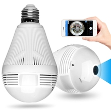 360 Degree Wifi LED Light Smart Camera HD Video Wireless 1080P IP Camera Home LED Bulbs Security Surveillance Camera
