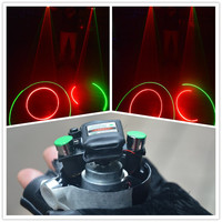 Wecool New Design Green Red Swirl laser man gloves / 450nm High Power dj gloves laser lights DJ equipment Swirl Laser Gloves