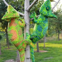 Large 65cm Cartoon Chameleon Plush Toy Soft Throw Pillow Birthday Gift B0969