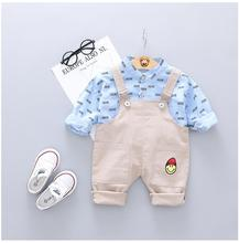 2019 Toddler Infant Clothes Suits Casual Style Baby Boys Clothing Sets Letter  Shirt Strap  Pants Kids Children Costume casual summer gentleman style kids boys clothing sets cotton sling strap costume shirt short jeans boys clothes suits