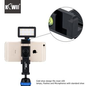 KIWI Smart Phone Mini Tripod Stand 360 Degrees Holder Clip with Standard Shoe for iPhone/HUAWEI/MI/Samsung Mobile Phone