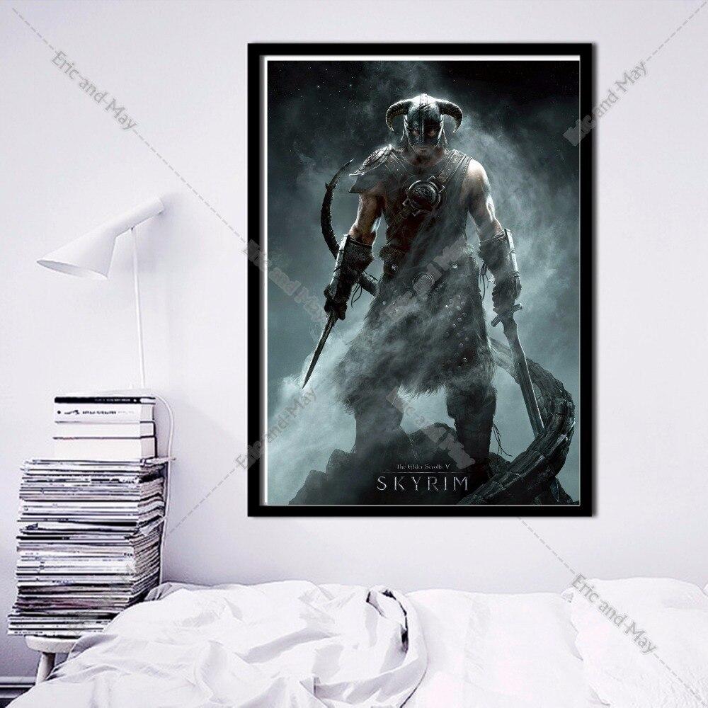 Poster design online - Elder Scrolls Online Design Canvas Art Print Painting Poster Wall Pictures For Living Room Home Decoration Decor No Frame