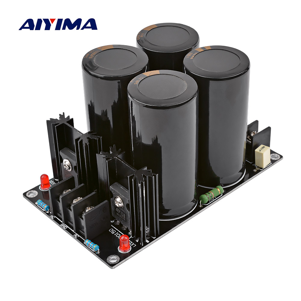 AIYIMA <font><b>Audio</b></font> Amplifiers Rectifier Protect Board <font><b>100V</b></font> 10000UF High Power Rectifier Filter Power Supply Board For Home Theater image