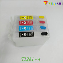 T1281 Refillable Ink cartridge For Epson - T1284 Stylus S22 SX125 SX130 SX230 SX235W SX420W SX425W SX435W Printer