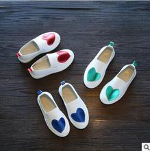 Primavera Outono Meninas Calçam Sapatos de Princesa Botas Curtas Martin Botas Bebê Crianças Sapatos Esporte Tênis de Couro Branco Pequeno Coração