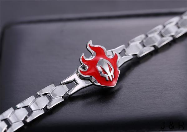 Anime Bleach Kurosaki Ichigo Fire Shape Metal Bracelets Bangles Alloy Linked Bracelet Cosplay Jewelry