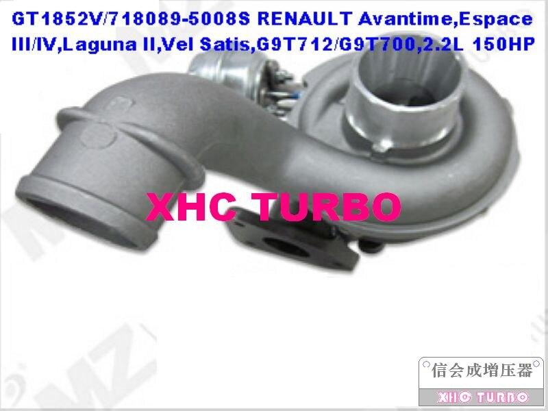 Новый GT1852V/718089 8200267138 Turbo Турбокомпрессоры для Renault Avantime, Espace 3, Лагуна 2, Vel Satis, g9t712/G9T700, 2.2l 150hp 01 03