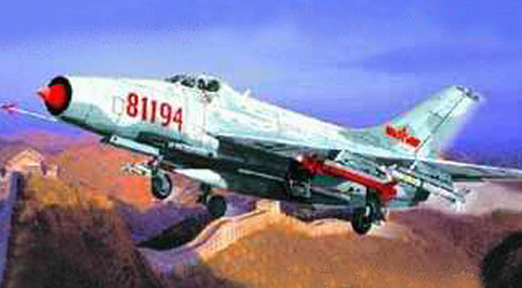 1: 144 China The Pla Air Force J7-II Fighter Military Assemble Aircraft Model 01325