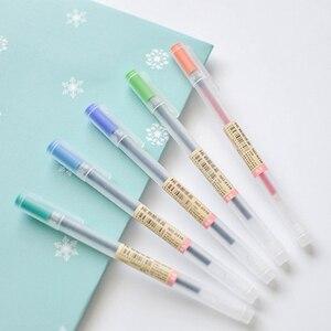 Гелевая ручка, 12 шт./лот, 0,5 мм, цветная чернильная ручка, школьная, офисная, 12 цветов