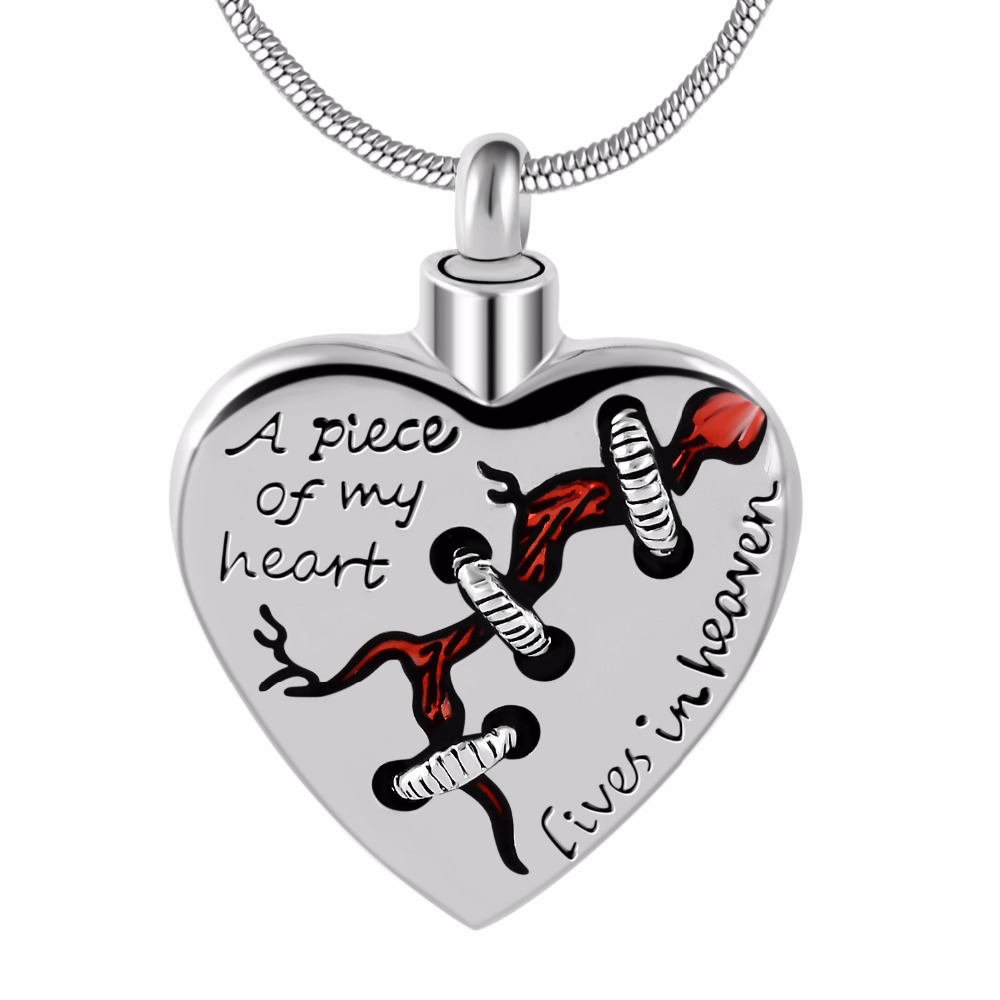 A piece of my heart lives in heaven Locket Heart cremation memorial ashes urn heart necklace jewelry keepsake pendantA piece of my heart lives in heaven Locket Heart cremation memorial ashes urn heart necklace jewelry keepsake pendant