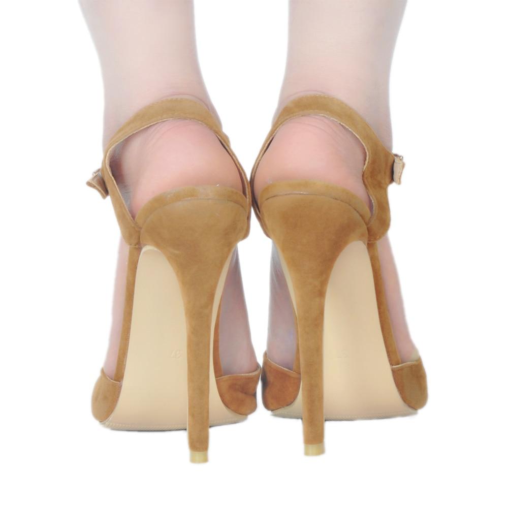 2018 Estrecha Camello Tacones Elegante Mujeres Delgada Zapatos Intención 4 Altos Punta Ef0934 Tamaño uu Original Mujer 15 Sandalias Estilo Ee Más gWPwEnx