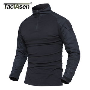 Image 2 - TACVASEN Camouflage T shirts Men Army Combat Tactical T Shirt Male Airsoft Military Clothing Long Sleeve Cotton Assault T Shirts