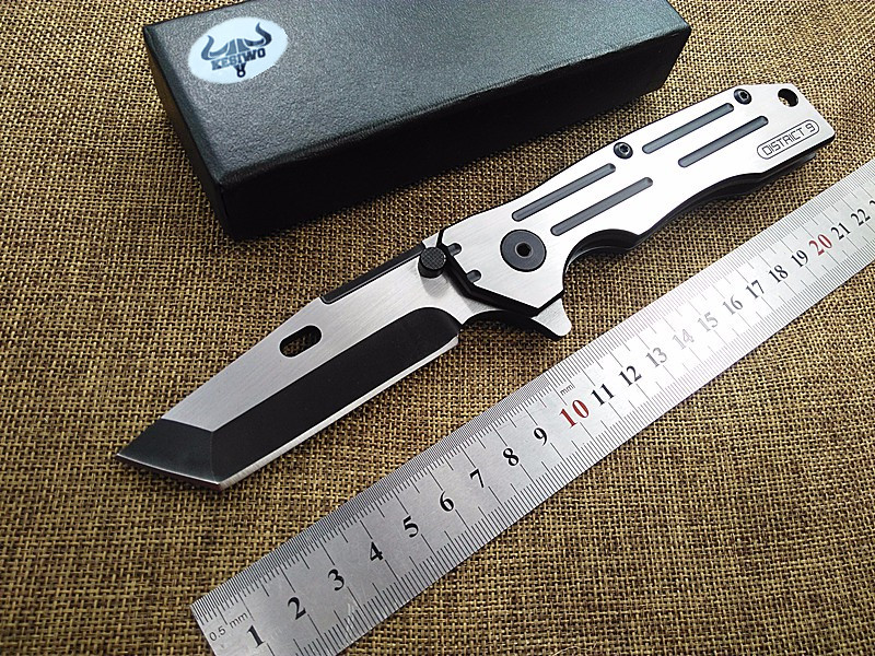 все цены на New tactical folding knife camping hunting survival pocket knife 8cr18mov blade steel handle utility EDC hand tools онлайн