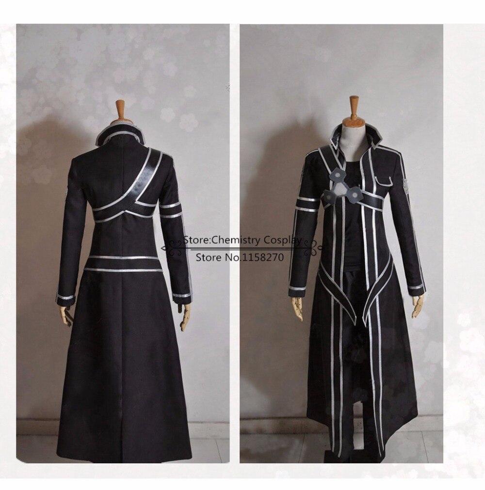 Sword Art Online Kirito Kazuto Kirigaya Cosplay Costume