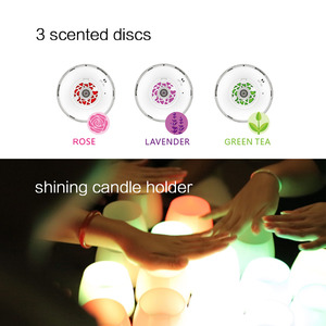 Image 4 - MIPOW 3 Pack Smart Bulb RGB Aromatherapy Candles Light Color Flameless Multi Colors APP Remote Control