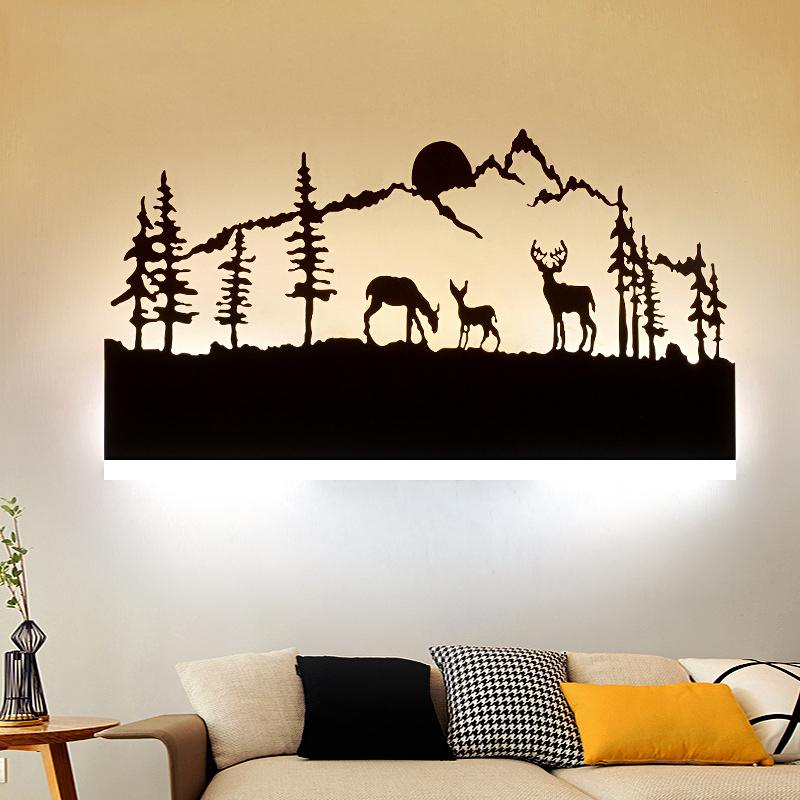 3D Cartoon Fairy Tales LED Wall Light Acrylic Wall Lamps for Study Hotel room Corridor Lights Cool Warm Lights image