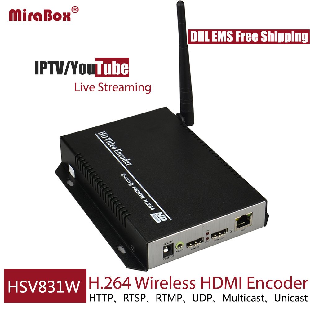 HSV831W H 264 Wireless HDMI Encoder Live streaming For YouTube IPTV 1080P HDMI Transmitter Live Broadcast