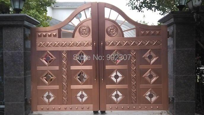 Henchuang Кованые Ворота кованые ворота вилла кованые ворота стали металлические железные ворота дизайн