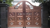 Henchuang Wrought Iron Gate Forged Iron Gates Villa Wrought Iron Gates Steel Metal Iron Gates Design