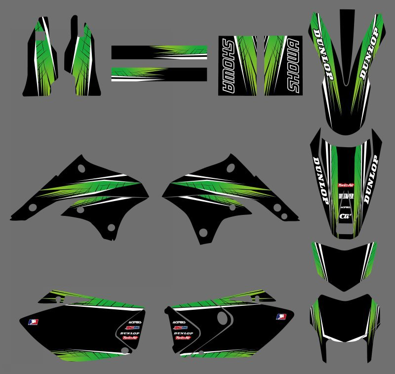 GRAPHICS BACKGROUNDS DECALS STICKERS Kits For Kawasaki KLX450 2008 2009 2010 2011 2012 KLX 450
