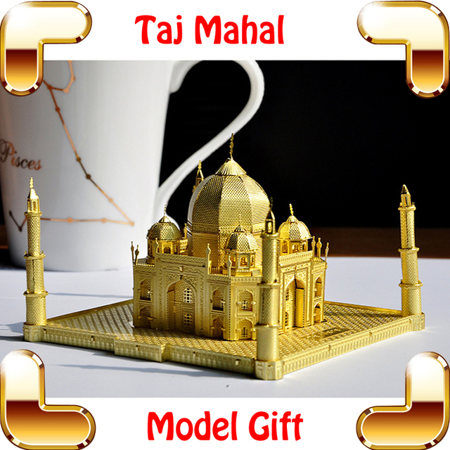 New Year Gift Taj Mahal 3D Metal Building Model Kit Alloy Frame Almost  Perfect Design Home