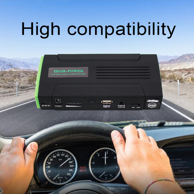 Newest 12000mAh Car Jump Starter Emergency Start Battery 12V Gasoline Version For Mobile Phone Laptop Charger Mobile Power Bank