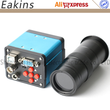 Big sale 2MP 1/2.5 inch 3 in1 Digital Industrial Microscope Camera VGA USB CVBS Outputs For PCB Repair+100X C-mount Zoom Lens