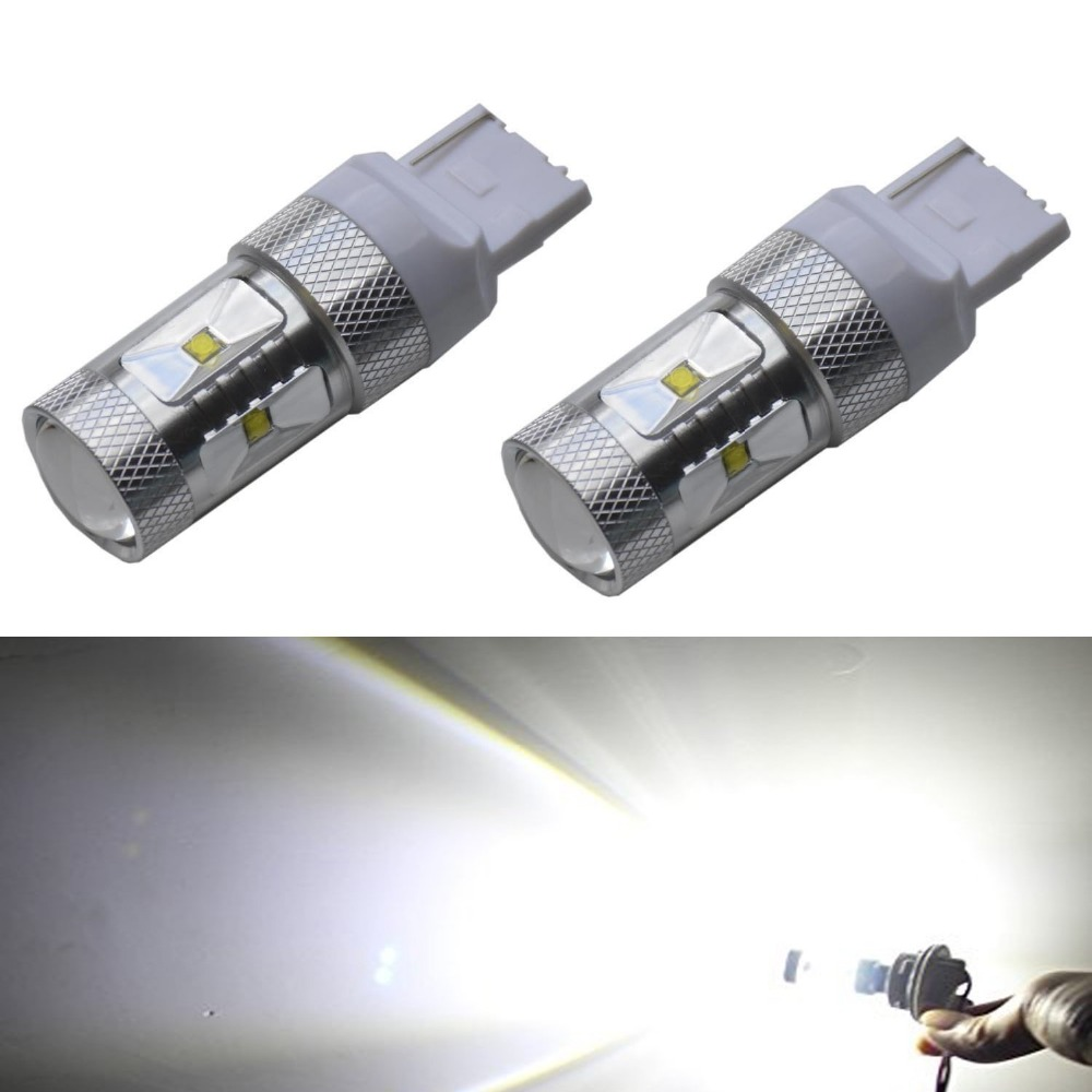 Extremely Bright Max 30W Canbus Error Free <font><b>T20</b></font> 7440 7441 Cree Chips <font><b>LED</b></font> Bulbs Car <font><b>DRL</b></font> ,White image