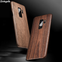 For Samsung S9 Plus Case Cover Luxury Slim Ultra Thin Hard Natural Wood Shockproof Armor Phone Case for S9 S8 Plus Back Cover