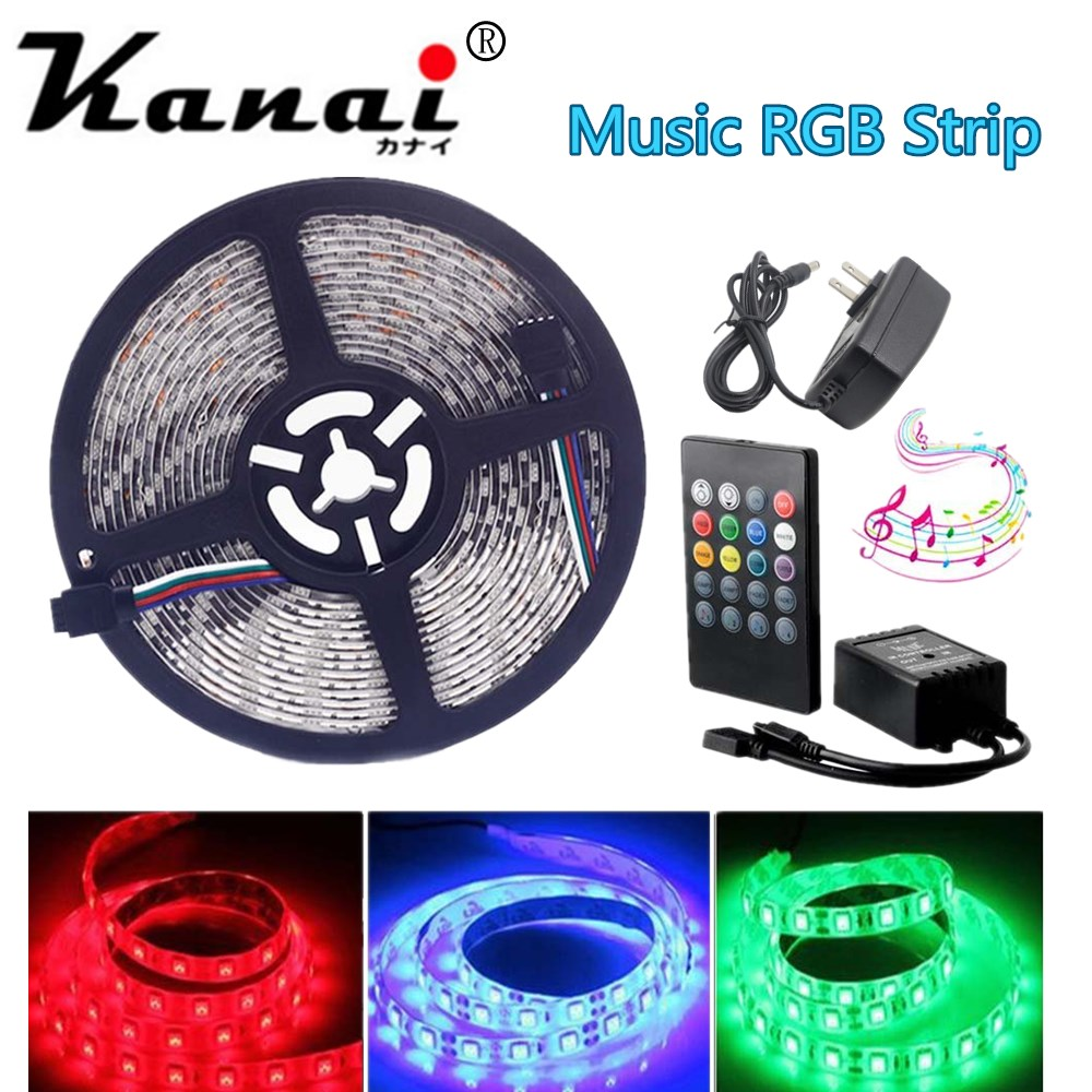 5050 3528  RGB led strip Neon lights Waterproof  Diode Tape led Ribbon With Music Remote Controller DC12V 3A Power Adapter 24a усилитель повторитель сигнала extend led 5050 3528 rgb полосы света