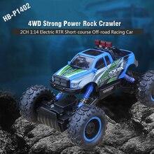 HB-P1402 2.4G 1:14 Scale 2CH 4WD high speed car remote control car rock crawler vehicle Electric Rock Crawler kid gift vs 2098B