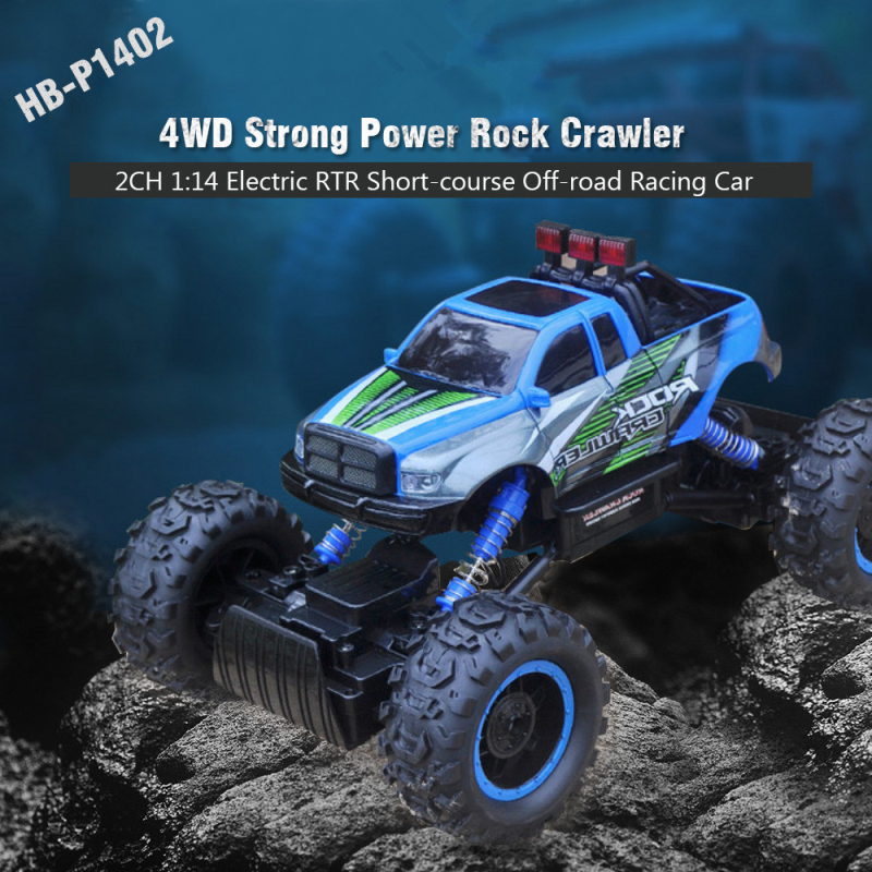 HB-P1402 2.4G 1:14 Scale 2CH 4WD high speed car remote control car rock crawler vehicle Electric Rock Crawler kid gift vs 2098B