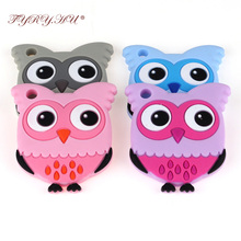 TYRY.HU 1pc Bird-shaped Baby Teether Soft Texture Silicone Teether For Teething