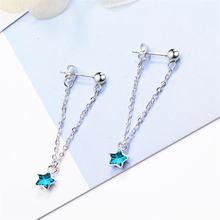 Женские серьги со звездами корейская мода Стерлинговое Серебро